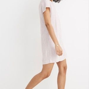 Madewell Striped Button back dress